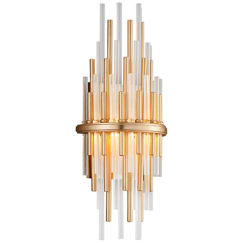 """Corbett Theory 17"""" High Gold Leaf LED Wall Sconce"""