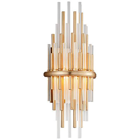 "Corbett Theory 17"" High Gold Leaf LED Wall Sconce"