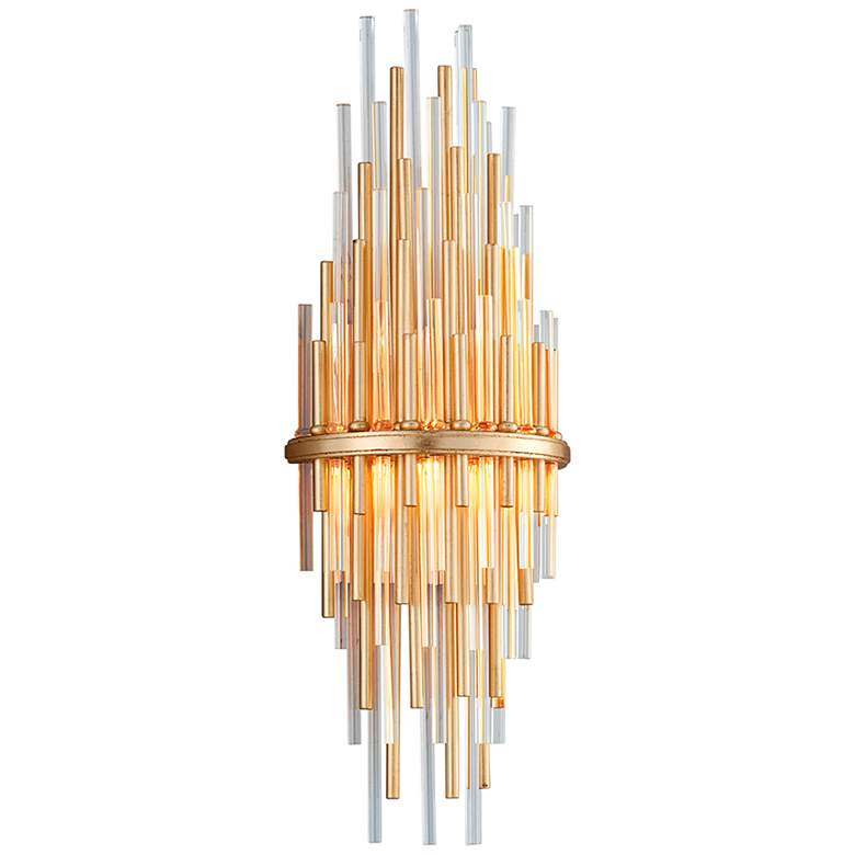 """Corbett Theory 22"""" High Gold Leaf LED Wall Sconce"""