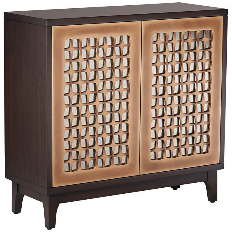 """Fairway 36"""" Wide Morocco and Bronze 2-Door Sideboard Table"""