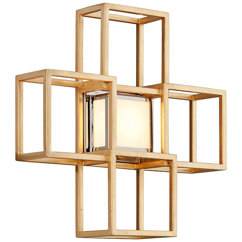 "Corbett Metropolis 15"" High Gold Leaf LED Wall"