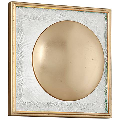 "Corbett Trance 9 1/2"" High Gold Leaf LED Wall Sconce"