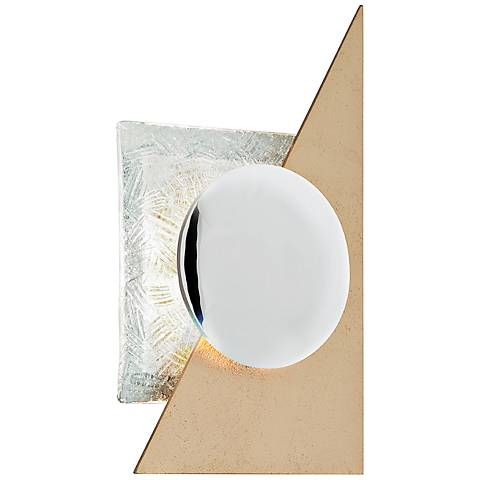 "Corbett Spinnaker 15 3/4"" High Gold Leaf LED Wall Sconce"