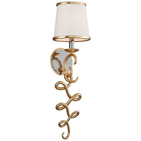 "Corbett Virtuoso 24 1/4"" High Gold Leaf Wall Sconce"
