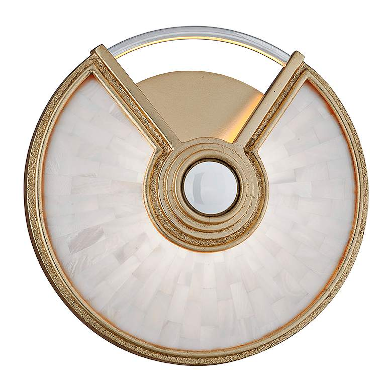 "Corbett Venturi 9 1/2"" High Gold Leaf LED Wall Sconce"