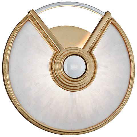 "Corbett Venturi 14"" High Gold Leaf LED Wall Sconce"