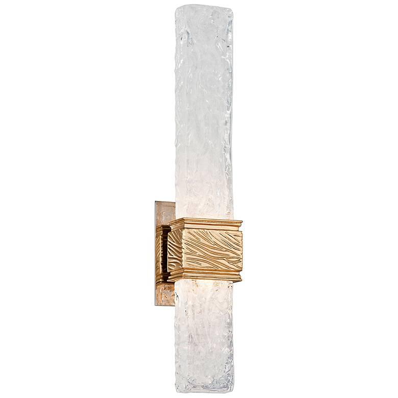 "Corbett Freeze 21 1/2"" High Gold Leaf LED Wall Sconce"