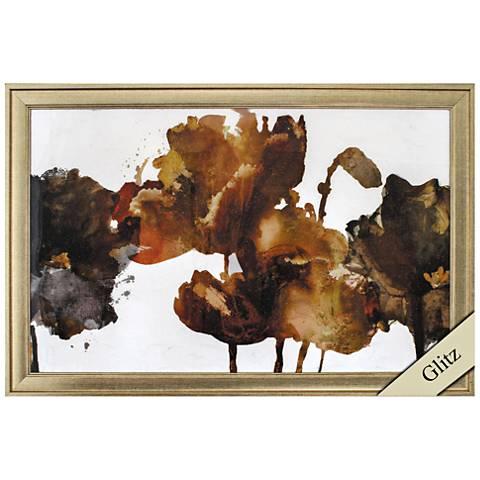 "Floral Rhumba II 35"" Wide Framed Wall Art"