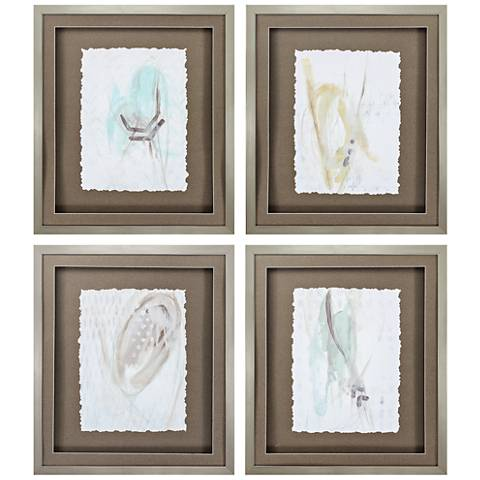 "Panttern Logic 24"" High 4-Piece Framed Wall Art Set"
