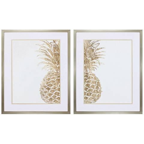 """Pineapple Life 32"""" High 2-Piece Framed Wall Art Set"""