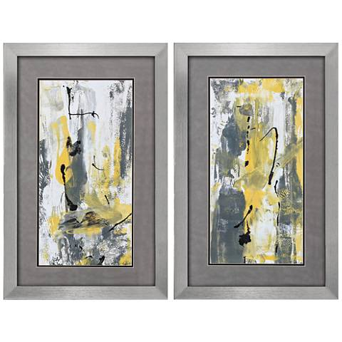 "Gray Movement 32"" High 2-Piece Framed Wall Art Set"