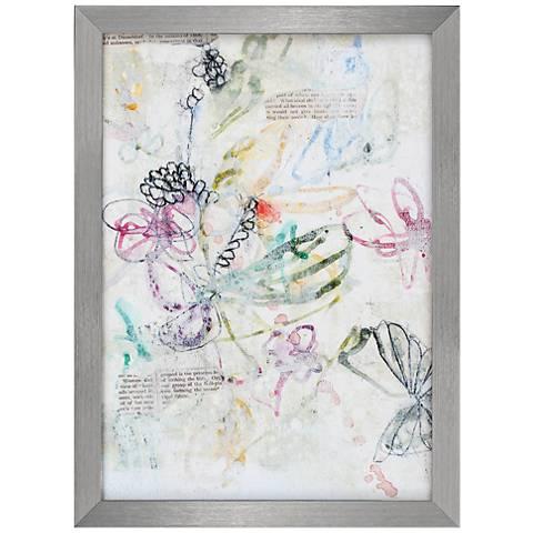 "Whimsy Bouquet I 30"" High Framed Wall Art"