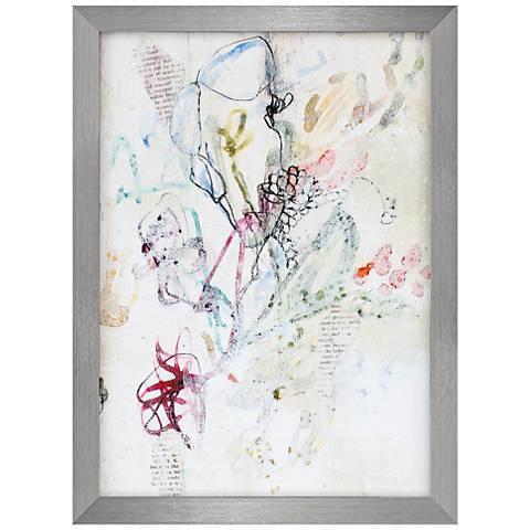 "Whimsy Bouquet II 30"" High Framed Wall Art"