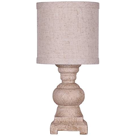 Monte Urn Accent Table Lamp in Stone White Finish
