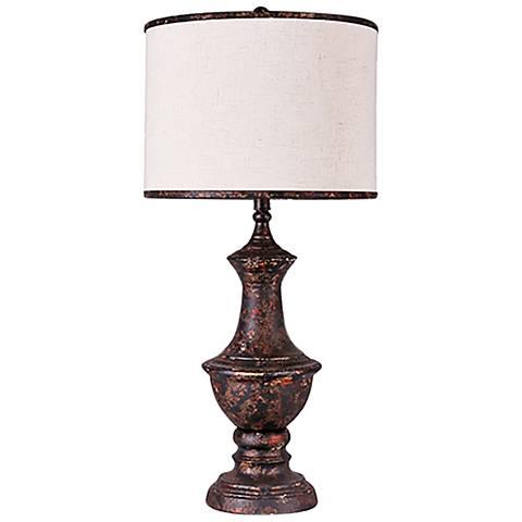 Corsica Burn Copper Urn Metal Table Lamp