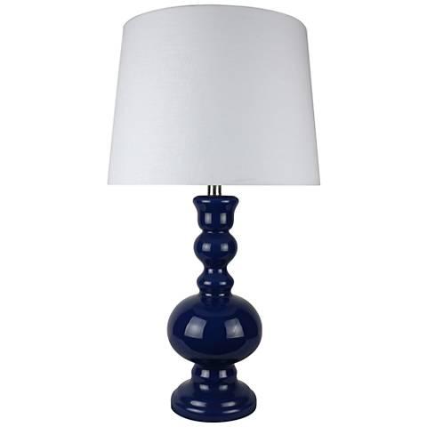 Santa Barbara Blue Glass Table Lamp