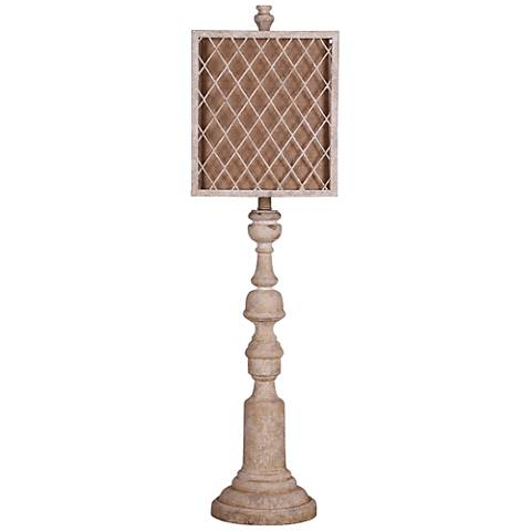 Phillips Distressed White Buffet Table Lamp