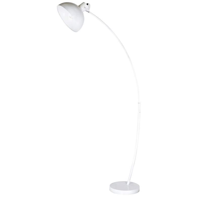 Wilson Matte White Metal Arc Floor Lamp