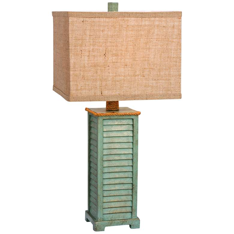 Sawyer Antique Green Table Lamp