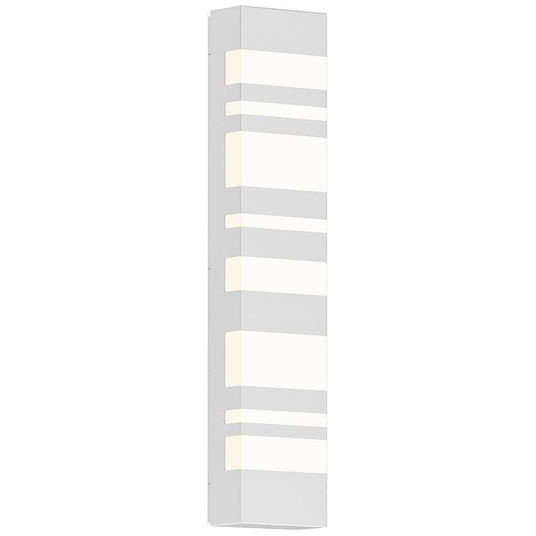 "Sonneman Bath Notes 24"" High Satin White LED Wall Sconce"