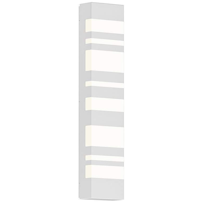 "Sonneman Bath Notes 24"" High Satin White LED Wall Sconce"