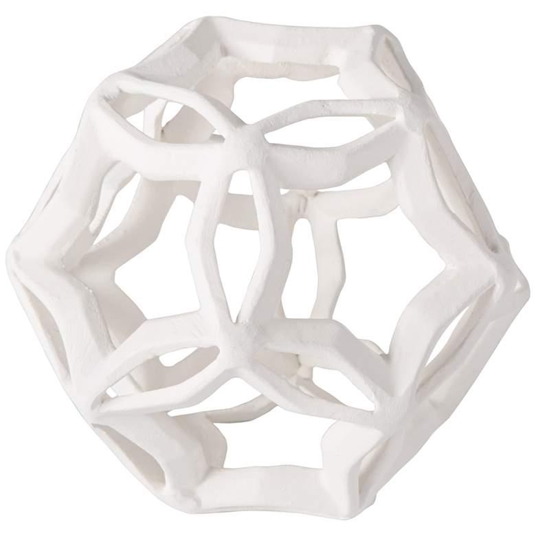 """Regina Andrew Cassius 5"""" High White Geometric Sculpture"""