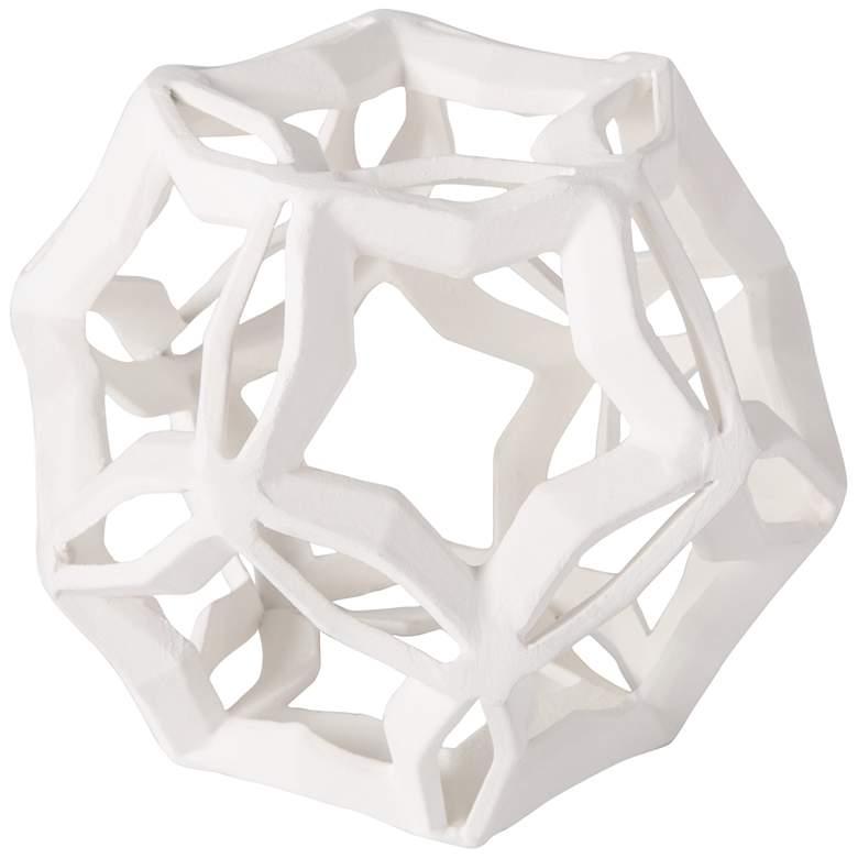 """Regina Andrew Cassius 6"""" High White Geometric Sculpture"""