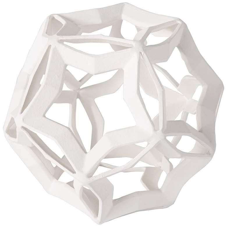 """Regina Andrew Cassius 7 3/4"""" High White Geometric Sculpture"""