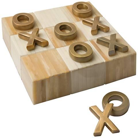 Regina-Andrew Block Natural Multi-Tone Bone Tic Tac Board