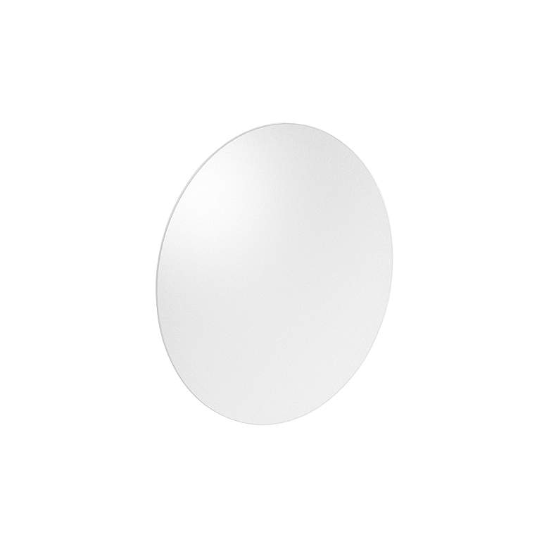 "Fontanna Shield 10"" High Satin White LED Wall Sconce"
