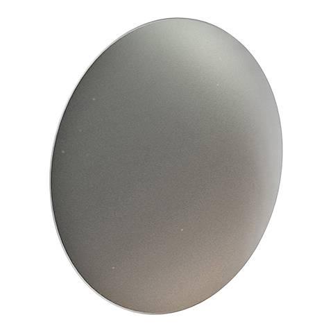 "Fontanna Shield 10"" High Satin Nickel LED Wall Sconce"