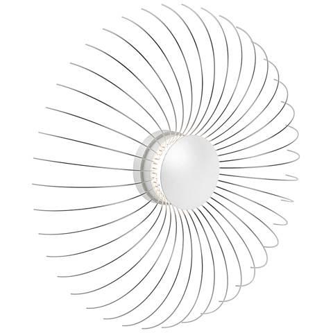 "Sonneman Fontanna 20 1/2"" High Satin White LED Wall Sconce"