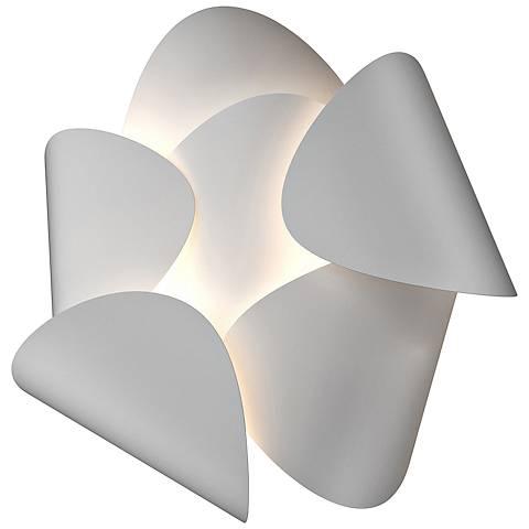 "Sonneman Lotus 12 1/2"" High Satin White LED Wall Sconce"