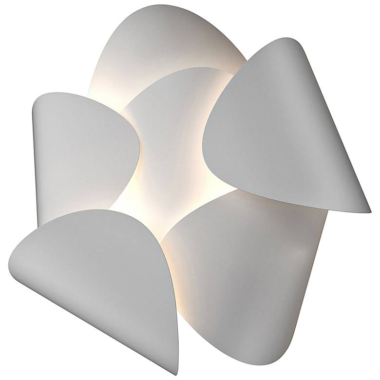 "Sonneman Lotus 12 1/2"" High Satin White LED Wall Sconce"