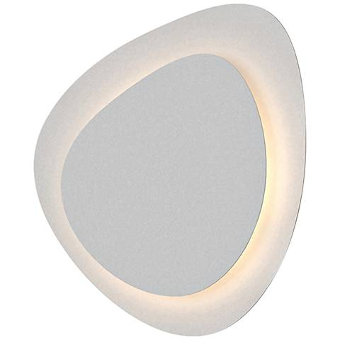 """Sonneman Abstract Panels 11 1/4"""" High White LED Wall Sconce"""
