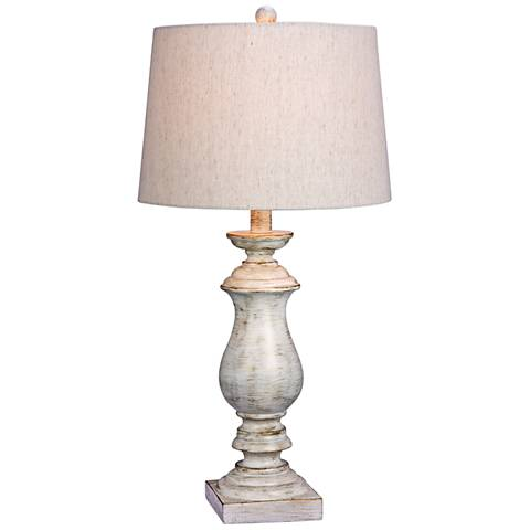 Marseille White Urn-Shape Table Lamp