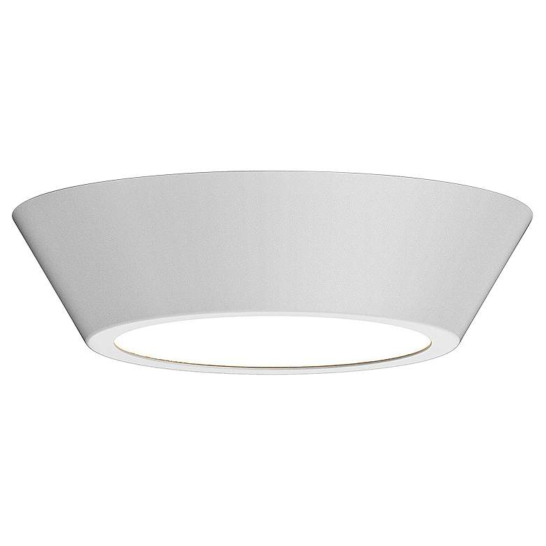 "Sonneman Oculus 10"" Wide Satin White LED Ceiling Light"