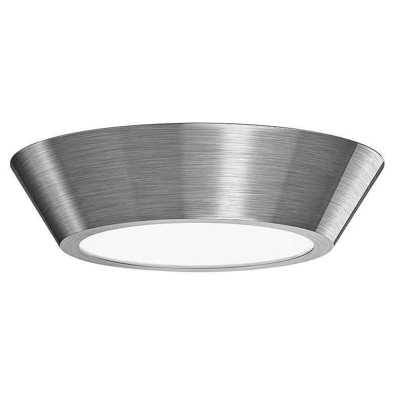 "Sonneman Oculus 10"" Wide Satin Nickel LED Ceiling"