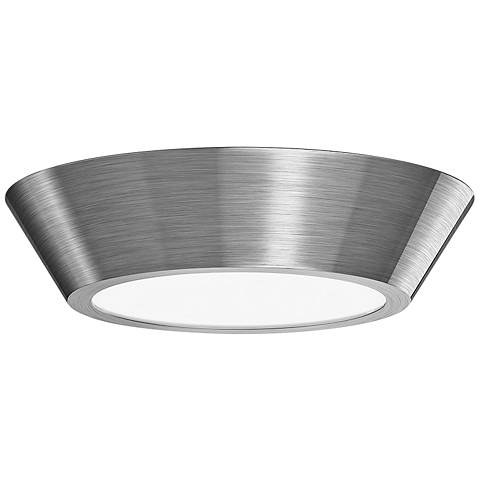 "Sonneman Oculus 10"" Wide Satin Nickel LED Ceiling Light"