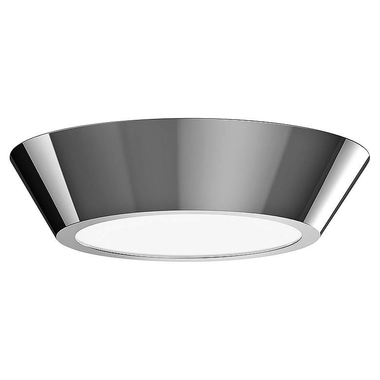 "Sonneman Oculus 10"" Wide Polished Nickel LED Ceiling"