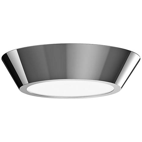 """Sonneman Oculus 10"""" Wide Polished Nickel LED Ceiling Light"""