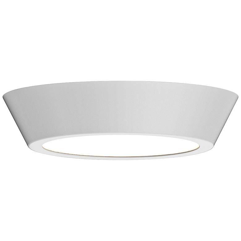 """Sonneman Oculus 13"""" Wide Satin White LED Ceiling Light"""