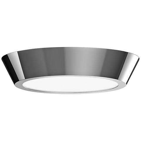 """Sonneman Oculus 13"""" Wide Polished Nickel LED Ceiling Light"""