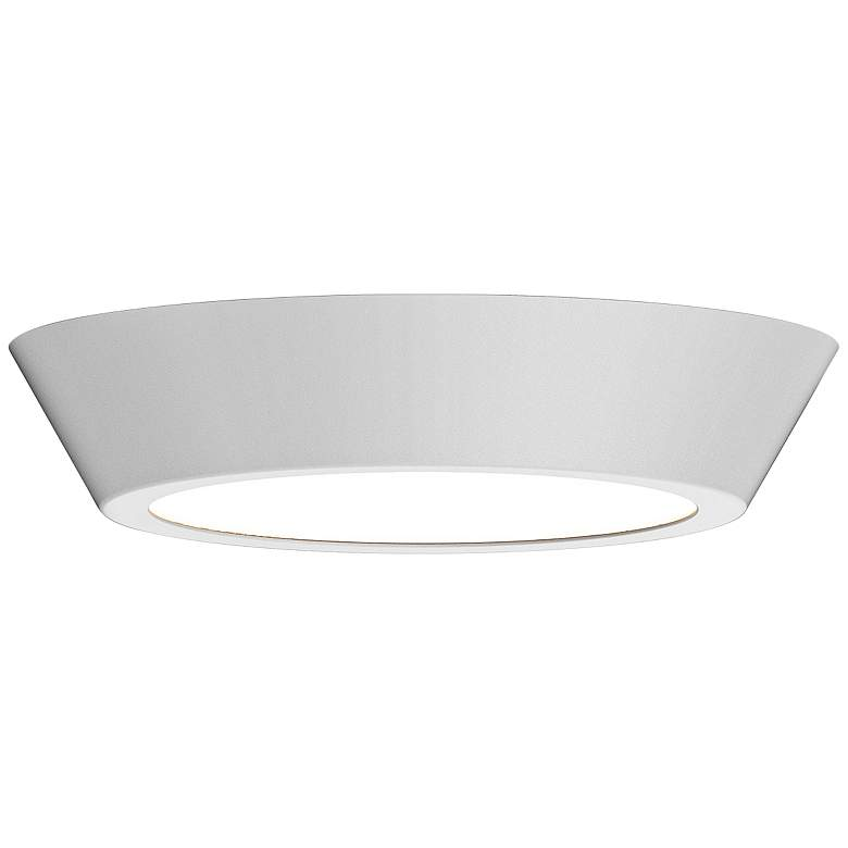 "Sonneman Oculus 16"" Wide Satin White LED Ceiling"