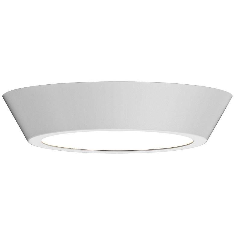 """Sonneman Oculus 16"""" Wide Satin White LED Ceiling Light"""