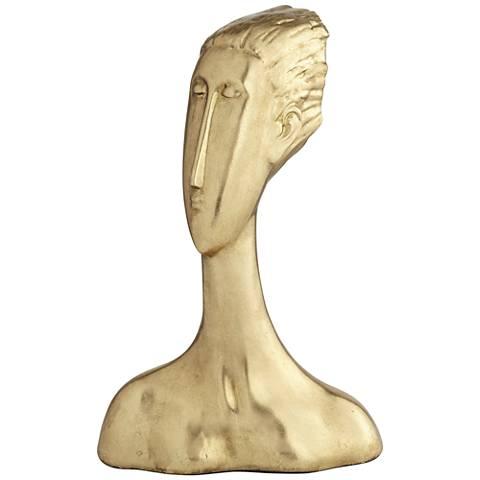 "Drost 15"" High Antique Gold Decorative Statue"