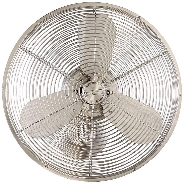 "14"" Craftmade Bellows IV Brushed Nickel Damp Wall Fan"