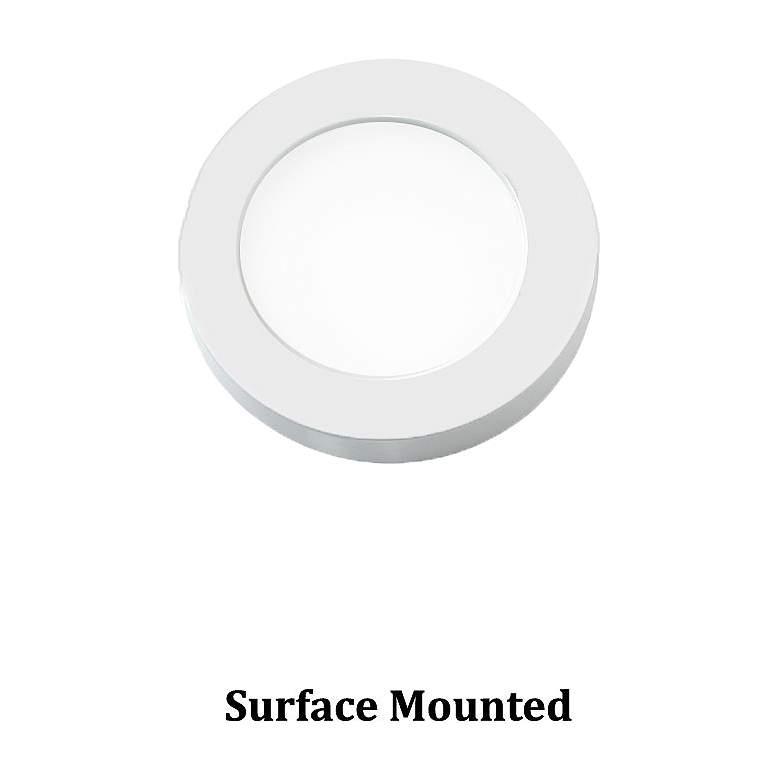 "WAC Edge Lit 3""W Round White LED Button Under Cabinet Light"