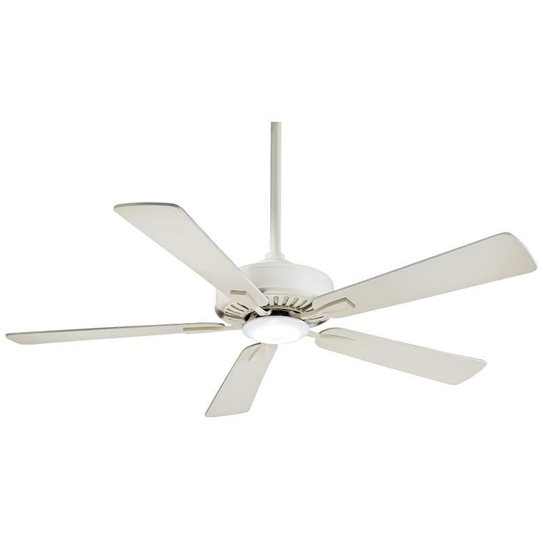 "52"" Minka Aire Contractor Bone White LED Ceiling Fan"