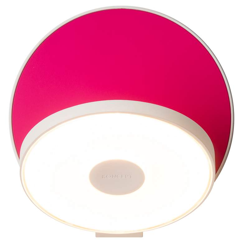 "Koncept Gravy 5""H Matte Hot Pink Hardwire LED Wall Sconce"